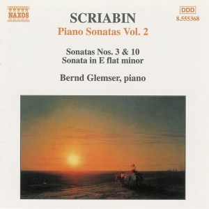 Scriabin: Piano sonatas, vol.2: Sonatas 3 & 10, Glemser, CD cover