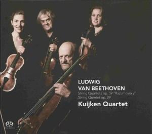 Beethoven, string quartets op.59, string quintet op.29, Kuijken Quartet, CD cover