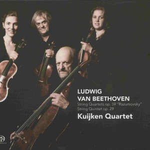 Beethoven, string quartets op.59, string quintet op.29, Kuijken Quartet, CD cover