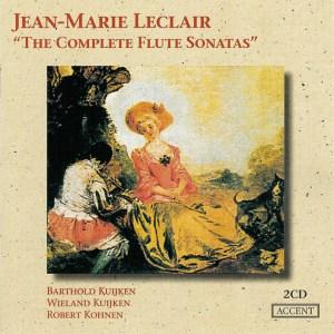 Leclair: The complete Flute Sonatas, Kuijken, CD cover