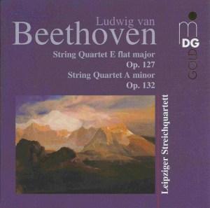 Beethoven, string quartets opp.127 & 132, Leipziger Streichquartett, CD cover