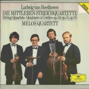 Beethoven, string quartets opp.59, 74, 95 & 14/1, Melos Quartett, CD cover
