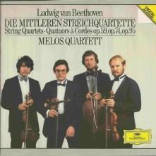 Beethoven, string quartets opp.59, 74, 95 & 14/1, Melos Quartett, CD cover
