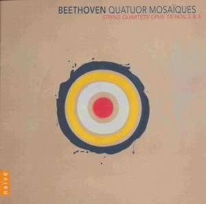 Beethoven, string quartets opp.18/5 & 18/6, Quatuor Mosaïques, CD cover