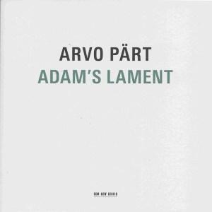 Arvo Pärt, Adams Lament, Kaljuste, CD cover