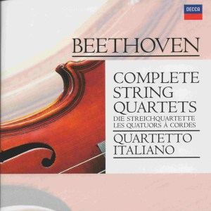 Beethoven, string quartets, Quartetto Italiano, CD cover