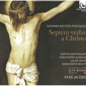 Pergolesi: Septem verba a Christo in cruce moriente prolata, Jacobs, CD cover