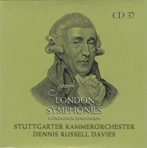 Haydn: The London Symphonies, Dennis Russell Davies, CD cover