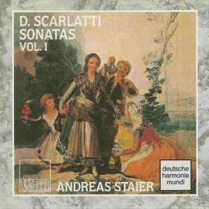 Domenico Scarlatti, Sonatas vol.I, Staier, CD, cover