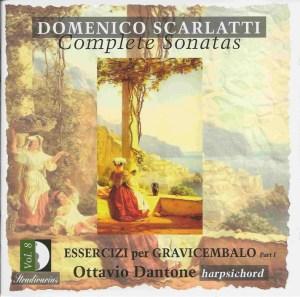 Domenico Scarlatti, Complete sonatas vol.8, Dantone, CD, cover