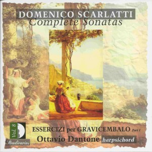 Domenico Scarlatti, Complete sonatas vol.8, Dantone, CD, cover