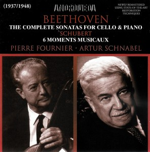 Beethoven: Cello sonatas, Fournier, Schnabel, CD cover