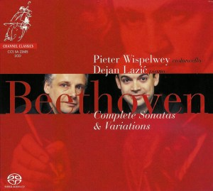 Beethoven: cello sonatas, Wispelwey, Lazic, CD cover