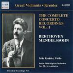 Beethoven / Mendelssohn: Violin concertos, Kreisler, Blech, CD, cover