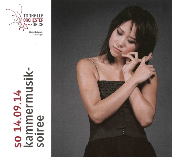 Chamber music concert at Tonhalle Zurich, Yuja Wang / program title
