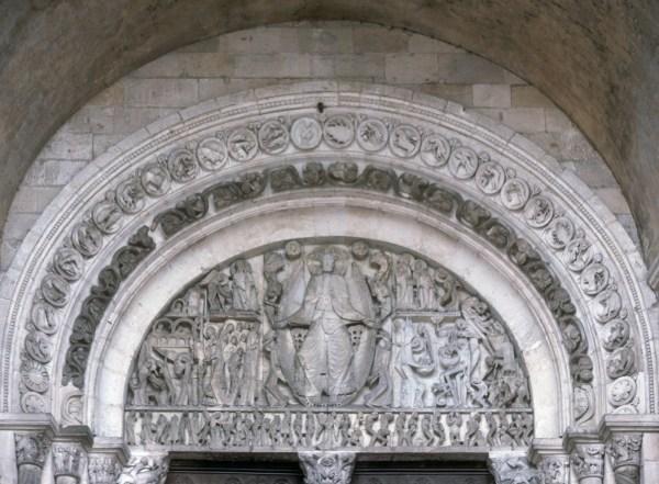 Autun cathedral, portail, tympanon, 1975