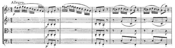 Beethoven, string quartet op.18/1, mvt.4, score sample