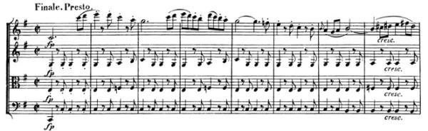 Beethoven, string quartet op.59/2, mvt.4, score sample