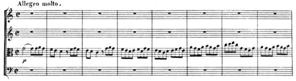 Beethoven, string quartet op.59/3, mvt.4, score sample