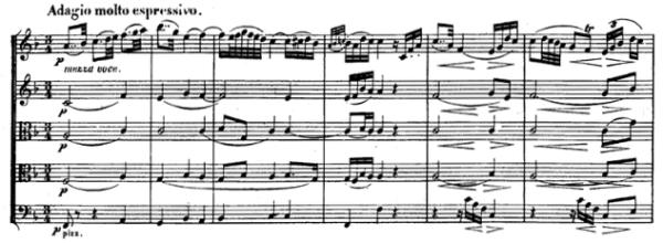 Beethoven, string quintet op.29, mvt.2, score sample