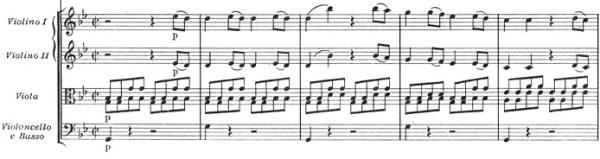 Mozart: Symphony No.40 in G minor, K.550 (version 2) —score sample, mvt.1