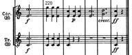 Beethoven, Symphony No.4 B♭ major op.60, score sample, mvt.3, final bars, Hr./Tr.