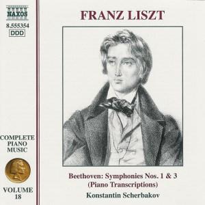 Liszt / Beethoven: Symphonies Nos.1 & 3 —Scherbakov; CD cover
