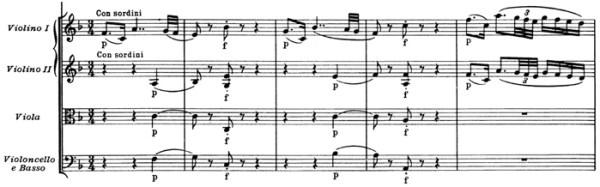 """Mozart: Symphony No.41 in C major, K.551, """"Jupiter"""" —score sample, mvt.2"""