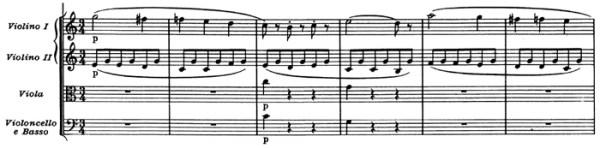 "Mozart: Symphony No.41 in C major, K.551, ""Jupiter"" —score sample, mvt.3 / Menuetto"