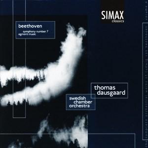 Beethoven: Symphony 7, Egmont —Dausgaard / SCO; CD cover
