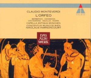 Monteverdi: L'Orfeo — Harnoncourt, Concentus musicus; CD cover