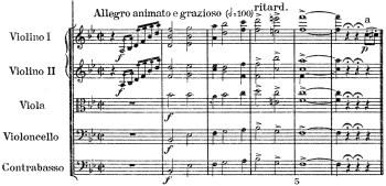 Schumann: Symphony No.1 in B♭ major, op.38, score sample: movement #4, Introduction