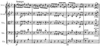 Schumann: Symphony No.1 in B♭ major, op.38, score sample: movement #4, a tempo