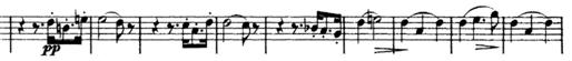 Schubert, String Quartet No.15 in G, D.884, score sample, mvt.I, theme Vl.I