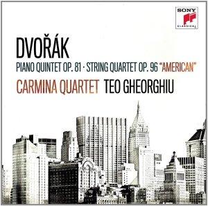 Dvořák: Piano quintet op.81, String quartet op.96 —Carmina Quartet, Teo Gheorghiu; CD cover