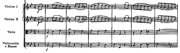 Haydn, Symphony No.68 in B♭ major, score sample, mouvement #2, Menuetto