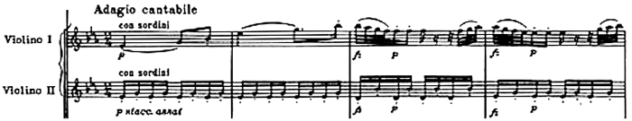 Haydn, Symphony No.68 in B♭ major, score sample, mouvement #3