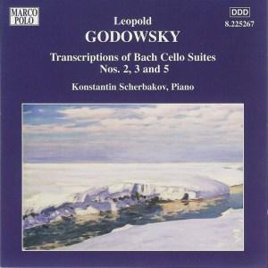Godowsky, piano works, vol.7 (Bach Cello Suites 2, 3, 5) —Konstantin Scherbakov; CD cover