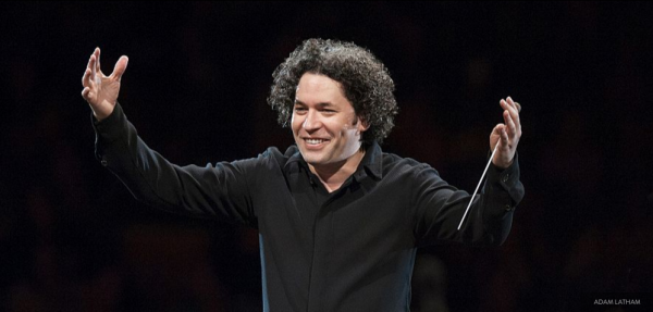 Conductor in this Turangalîla performance: Gustavo Dudamel (© Adam Latham)