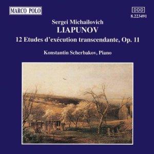 Lyapunov: 12 Etudes d'Exécution transcendante, op.11 —Konstantin Scherbakov; CD cover