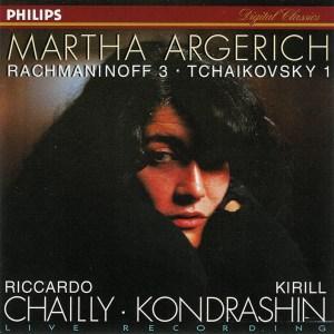 Rachmaninoff: Piano concerto No.3; Tchaikovsky: Piano concerto no.1 — Argerich; CD cover