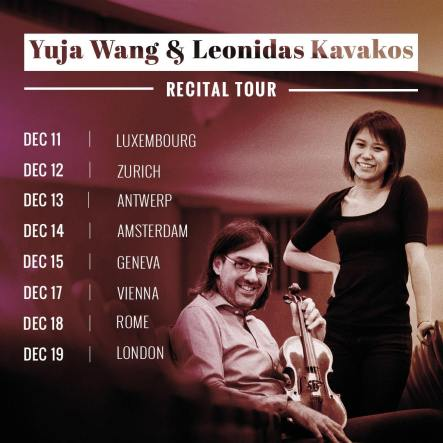 Yuja Wang & Leonidas Kavakos, schedule (source: Facebook)