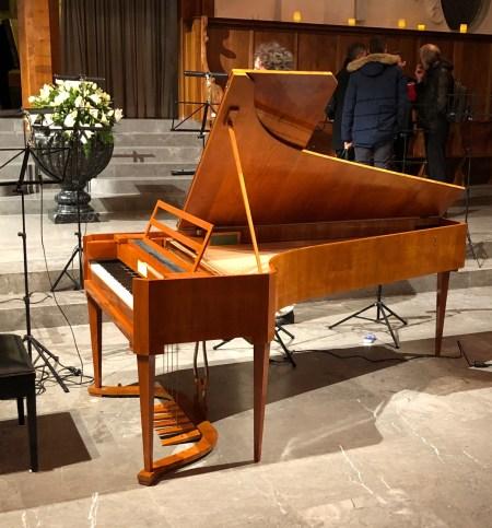 Concert @ St.Peter, Zurich, 2018-03-07 , fortepiano (photo © Rolf Kyburz)