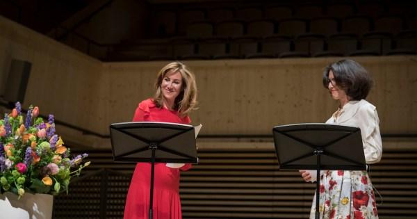 Orpheum Concert: Carolina Müller-Möhl (l.), Claudia Coninx-Kaczinski (© Thomas Entzeroth)