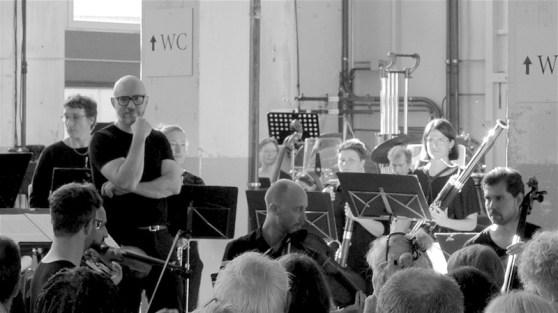 Kaleidoscope String Quartet, Baldur Brönnimann @ Altes Kraftwerk, Basel, 2018-06-10 (© Rolf Kyburz)