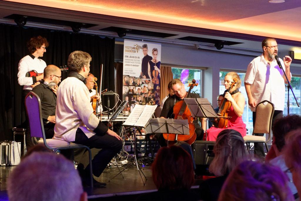 Festival Academy Budapest, 2018-07-26, Európa Boat: InFusion Trio & Kelemen Quartet