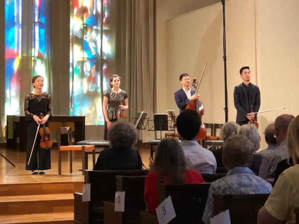 Rolston String Quartet, Lucerne, Lukaskirche, 2018-09-11 (© Rolf Kyburz)