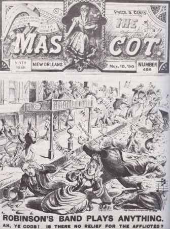 "New Orleans newspapwer ""The Mascot"", cover for 1890-11-15 (source: Wikimedia commons)"
