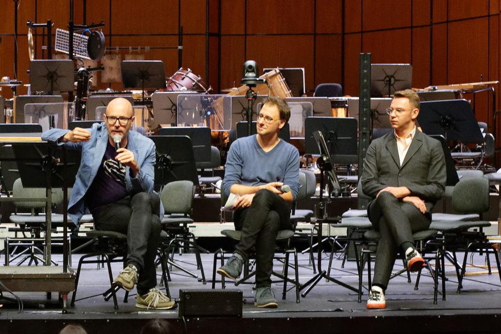 Basel, 2018-09-16: Baldur Brönnimann, Werner Hoppe, Jakub Fiebig (© Rolf Kyburz)