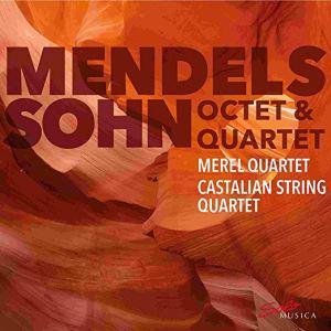 Mendelssohn: String Octet op.20 & String Quartet op.12 —Merel & Castalian String Quartets: CD cover